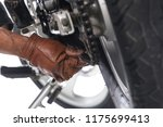 cropped view of mechanic using...   Shutterstock . vector #1175699413