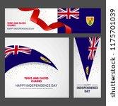 happy turks and caicos islands... | Shutterstock .eps vector #1175701039