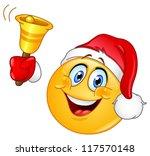 Emoticon With Santa Hat Ringin...