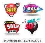 sale banner set for promotion... | Shutterstock .eps vector #1175702776