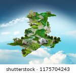 pakistan map. pakistan... | Shutterstock . vector #1175704243