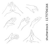 hand drawn woman hands  line...   Shutterstock .eps vector #1175706166