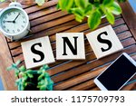 pc and sns   Shutterstock . vector #1175709793