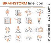 set of line icons on the theme... | Shutterstock . vector #1175712943