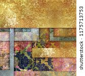 shabby colored floral pattern...   Shutterstock . vector #1175713753