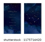 magic night dark blue sky with... | Shutterstock .eps vector #1175716420