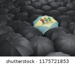 delaware state flag on umbrella.... | Shutterstock . vector #1175721853