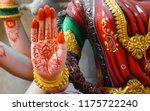 closeup view of hindu goddess... | Shutterstock . vector #1175722240