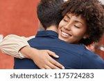sweet hugs concept. outdoor... | Shutterstock . vector #1175724283