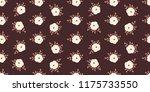 seamless vector ornamental... | Shutterstock .eps vector #1175733550