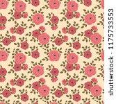 seamless vector ornamental... | Shutterstock .eps vector #1175733553