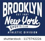 vector athletic typography... | Shutterstock .eps vector #1175742226