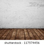 brick room and wooden floor | Shutterstock . vector #117574456