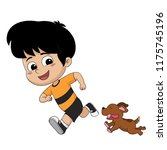 the child was playing with his... | Shutterstock .eps vector #1175745196