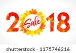 happy sale 2018 logotype.... | Shutterstock .eps vector #1175746216