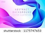 vector wave 3d. gradient... | Shutterstock .eps vector #1175747653