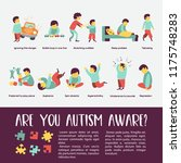 autism. early signs of autism... | Shutterstock .eps vector #1175748283