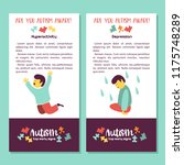 autism. early signs of autism... | Shutterstock .eps vector #1175748289