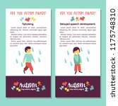 autism. early signs of autism... | Shutterstock .eps vector #1175748310