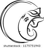 ganesha calligraphic style hand ...   Shutterstock .eps vector #1175751943