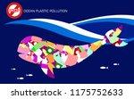 stop ocean plastic pollution... | Shutterstock .eps vector #1175752633