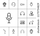 microphone icon. collection of... | Shutterstock .eps vector #1175754829