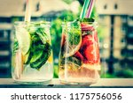concept healthy food  detox... | Shutterstock . vector #1175756056