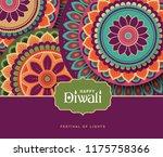diwali festival greeting card...   Shutterstock .eps vector #1175758366