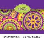 diwali festival greeting card... | Shutterstock .eps vector #1175758369
