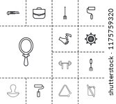 handle icon. collection of 13... | Shutterstock .eps vector #1175759320