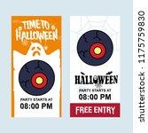 happy halloween invitation...   Shutterstock .eps vector #1175759830