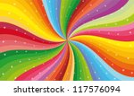 Abstract Rainbow Stripe With...