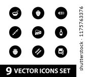 gourmet icon. collection of 9... | Shutterstock .eps vector #1175763376