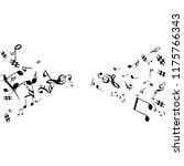 musical signs. modern... | Shutterstock .eps vector #1175766343