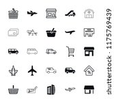 commercial icon. collection of... | Shutterstock .eps vector #1175769439