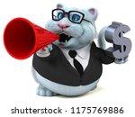 fun cat   3d illustration | Shutterstock . vector #1175769886