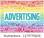 advertising word cloud ... | Shutterstock . vector #1175770633