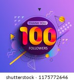 thanks for the first 100...   Shutterstock .eps vector #1175772646