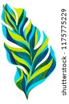 tropical leaf painted in... | Shutterstock . vector #1175775229