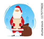 santa claus with huge bag with...   Shutterstock .eps vector #1175775820