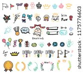 handwriting ranking icons color   Shutterstock .eps vector #1175776603