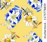 beautiful lilies flowers... | Shutterstock . vector #1175778859