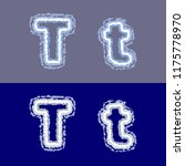 vector letter t on grey and... | Shutterstock .eps vector #1175778970
