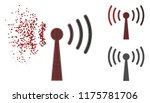 wi fi station icon in sparkle ... | Shutterstock .eps vector #1175781706