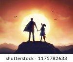 happy family celebrating for... | Shutterstock . vector #1175782633