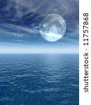 the full moon at quiet night  ... | Shutterstock . vector #11757868