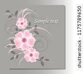 wedding card or invitation with ...   Shutterstock .eps vector #1175789650