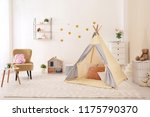 cozy kids room interior with... | Shutterstock . vector #1175790370