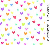 colorful heart pattern | Shutterstock .eps vector #1175790403