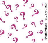 question mark pattern. question ... | Shutterstock .eps vector #1175793250